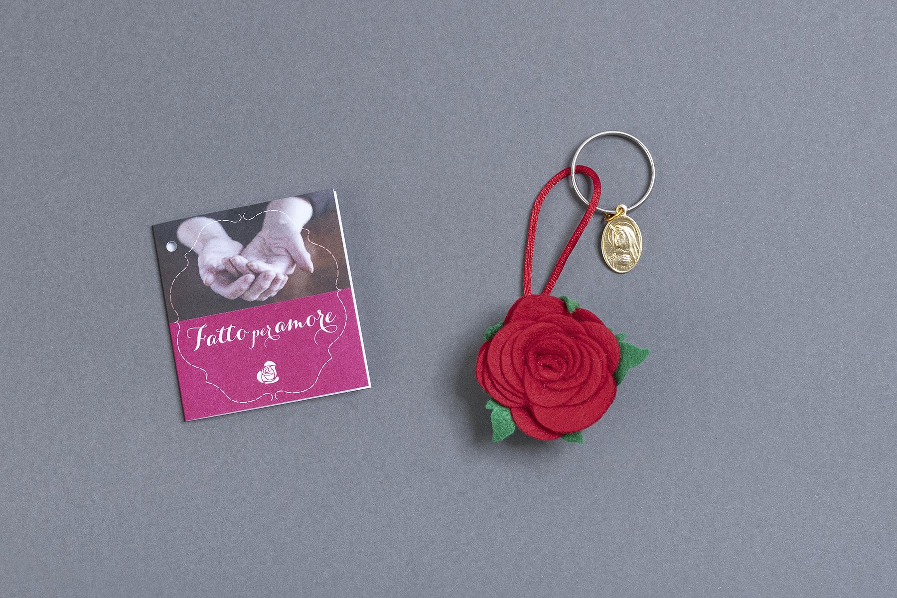 Portachiavi Rosa Rossa